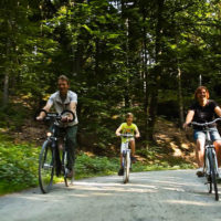 Familie Hesse mit dem Rad unterwegs
