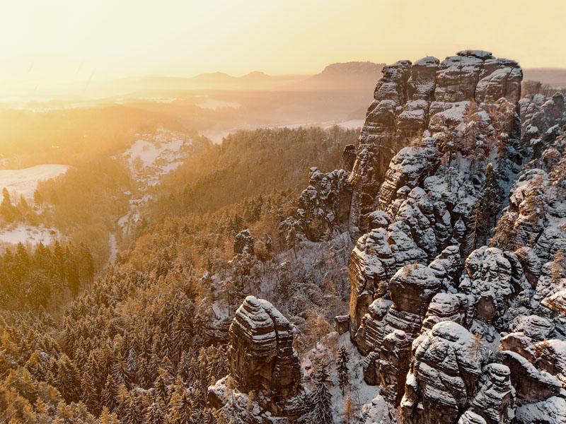 Die perfekten 48 Stunden in der Sächsischen Schweiz im Winter