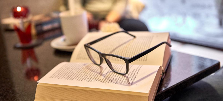 Lesen und Entspannen im Kaffeehaus in Pirna