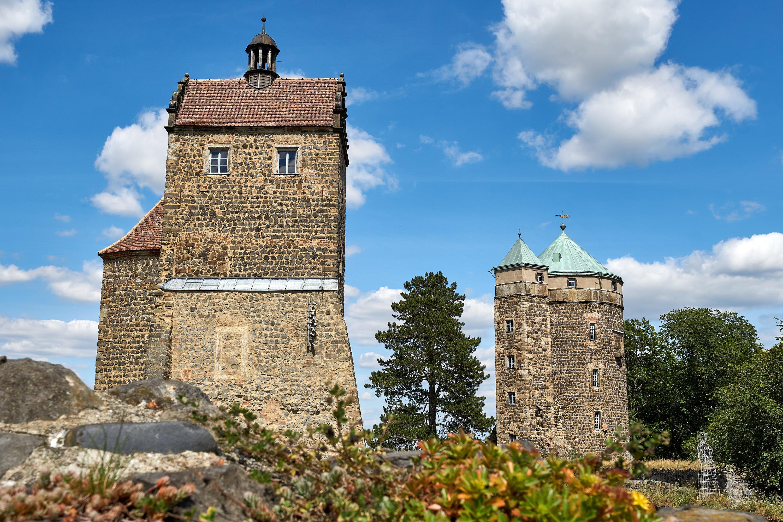 Blick auf die Burg Stolpen