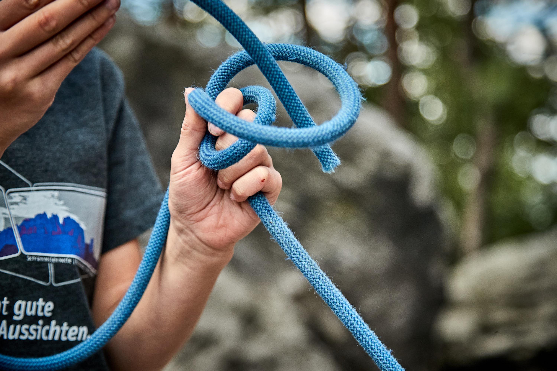 Schlinge Knoten üben