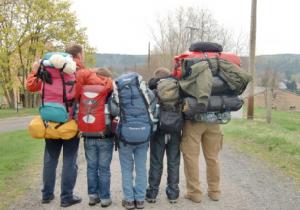 Familie Luft Wanderung auf dem Malerweg