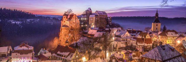 Winterwanderung auf dem Naturlehrpfad Hohnstein