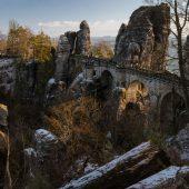 Mystische Winterwanderung vom Kurort Rathen auf die Bastei