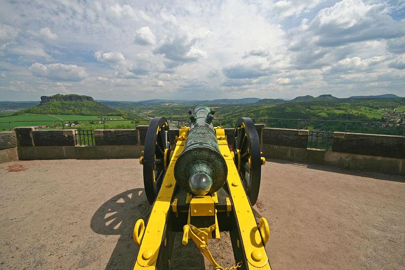 Kanone auf der Festung Königstein (c) U. Göbel - fotolia.com