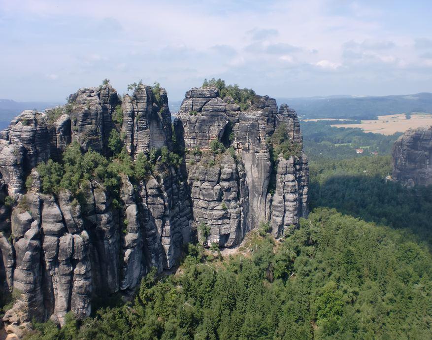 Aussicht von den Schrammsteinen © TVSSW