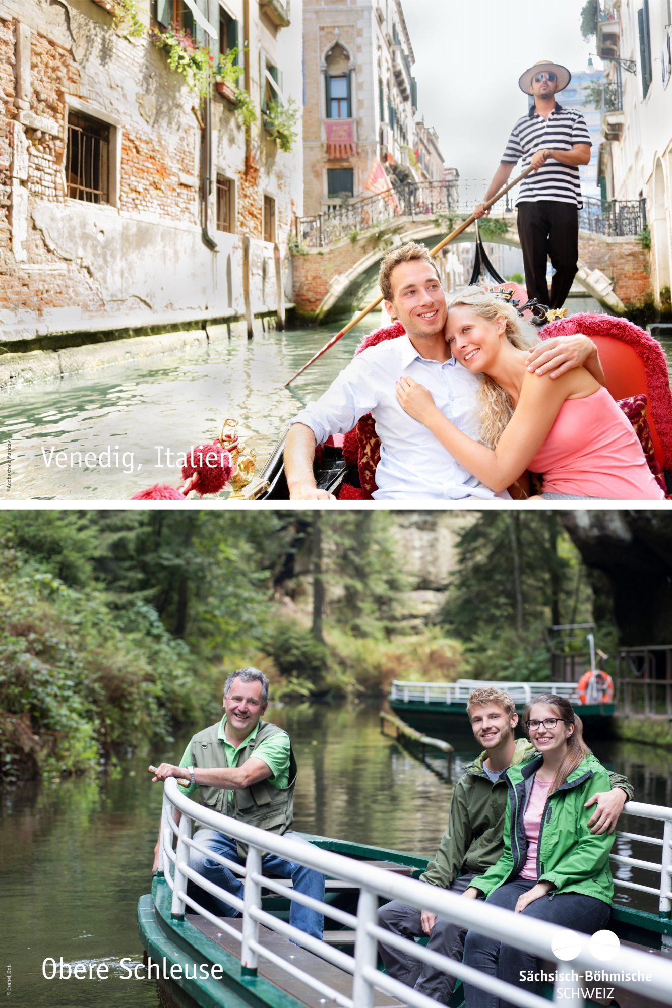 Vergleich Venedig und Obere Schleuse