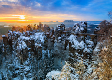 Bastei im Winter (c) Daniela Beyer