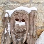 Das Winterdorf Schmilka in der Sächsischen Schweiz im Winter