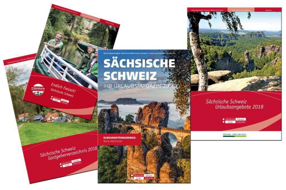 Broschüren des Tourismusverbandes Sächsische Schweiz (c) TVSSW
