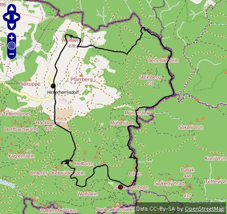 Route Hinterhermsdorf