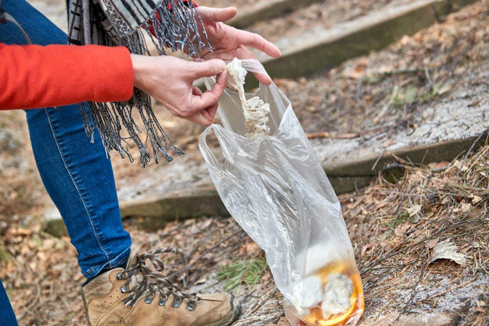 Müllsammeln auf einer Wanderung durch die Sächsische Schweiz (c) Achim Meurer