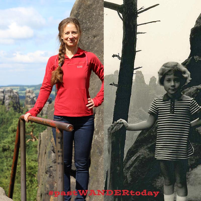 #pastWANDERtoday Wanderfotos früher und heute