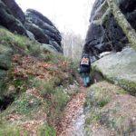 Bergpfad entlang der Stillen Gründe
