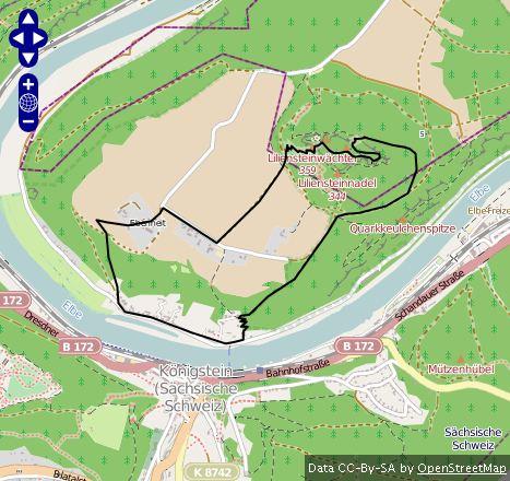 Route zum Lilienstein